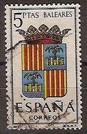 ESPAÑA SEGUNDO CENTENARIO USADO Nº 1412 (0) 5P BALEARES - 1931-Oggi: 2. Rep. - ... Juan Carlos I
