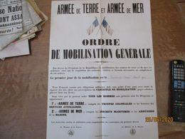 FAC-SIMILE DES AFFICHES ORDRE DE MOBILISATION GENERALE DU DIMANCHE 2 AOUT 1914,LE POILU-TYPE - Posters