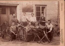 ! Interessantes Foto, CDV, Photo, Marienbad, Anton Günther Fotograf, Fahrrad, Bicycles, Format 16 X 11 Cm - Tchéquie