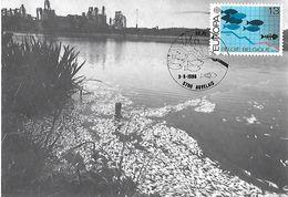 Belgique - Carte Maximum Yvert 2211 - EUROPA Cad 03 05 1986 Auvelais - Pollution Poissons Morts - Rivière - Rejets Usine - Belgium
