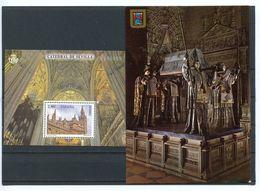 CATHEDRALE DE SEVILLE BLOC ESPAGNE 2012 NEUF** + CARTE POSTALE TOMBEAU CHRISTOPHE COLOMB - Churches & Cathedrals