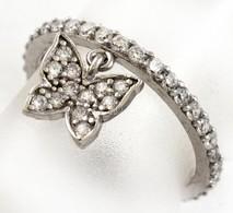 Ezüst(Ag) Pillangós Gyűrű, Jelzett, Méret: 49, Bruttó: 1,4 G - Jewels & Clocks