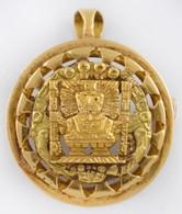 Arany (Au) 18K Medál és Bross Egyben, Jelzett, D: 2,5 Cm, Nettó: 7,6 G - Jewels & Clocks