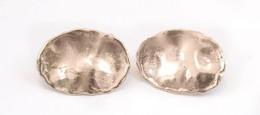 Ezüst(Ag) Dizájn Fülbevalópár, Jelzett, Egyik Hátoldalán Kis Sérüléssel, 2,5×2 Cm, Nettó: 4 G - Jewels & Clocks