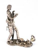 Ezüst(Ag) Miniatűr Figura, Jelzett, M: 5 Cm, Nettó: 27,5 G - Jewels & Clocks