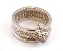 Ezüst(Ag) Széles Gyűrű, Tiffany Jelzéssel, Méret: 57, Nettó: 4,47 G - Jewels & Clocks