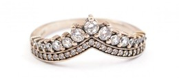 Ezüst(Ag) Diadémos Gyűrű, Pandora Jelzéssel, Méret: 58, Bruttó: 2,6 G - Jewels & Clocks
