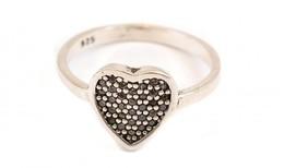 Ezüst(Ag) Szívecskés Gyűrű, Jelzett, Méret: 54, Bruttó: 1,96 G - Jewels & Clocks