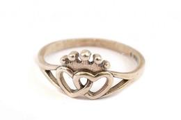 Ezüst(Ag) Dupla Szívecskés Gyűrű, Pandora Jelzéssel, Méret: 53, Nettó: 1,6 G - Jewels & Clocks