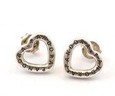 Ezüst(Ag) Szívecskés Fülbevalópár, Pandora Jelzéssel, 1,1×1,1 Cm, Nettó: 2,3 G - Jewels & Clocks