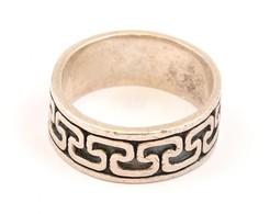 Ezüst(Ag) Geometriai Mintás Gyűrű, Jelzett, Méret: 64 Cm, Nettó: 8,10 G - Jewels & Clocks
