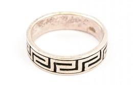 Ezüst(Ag) Geometriai Mintás Gyűrű, Jelzett, Méret: 63 Cm, Nettó: 5,47 G - Jewels & Clocks