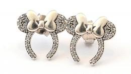 Ezüst(Ag) Masnis Fülbevalópár, Apró Kövekkel, Jelzett, Bruttó: 2,48 G - Jewels & Clocks