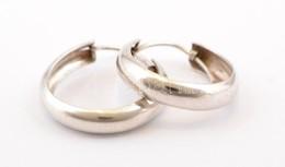 Ezüst(Ag) Karikafülbevaló-pár, Jelzett, D: 2 Cm, Nettó: 2,3 G - Jewels & Clocks