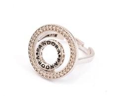 Ezüst(Ag) Dupla Körös Gyűrű, Pandora Jelzéssel, állítható Mérettel, Bruttó: 3,31 G - Jewels & Clocks
