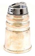 Ezüst(Ag) öngyújtó, Fém Felsőrésszel, Jelzett, Alján Kis Horpadásokkal, Utánatölthető, M: 10,5 Cm, Bruttó: 327 G - Jewels & Clocks