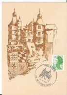 CPM - Chateau De Montbéliard - Blason - Philatélie 1984 - Association Philatélique Georges Cuvier - Montbéliard