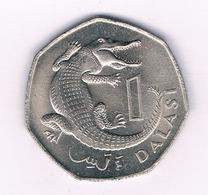 1 DALASI 1987 GAMBIA /4995/ - Gambia