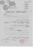 Certificat Ville De BORDEAUX Sur Papier Timbré Avec Armoiries Ville Pour Généalogie Ou Fiscaux - Fiscali