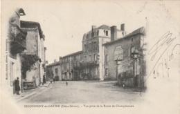***  79 ****  SECONDIGNY EN GATINE  Vue Prise De La Route De Champdeniers - Timbrée TTB - Secondigny
