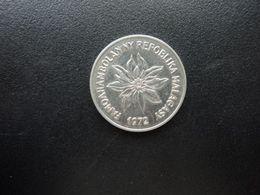 MADAGASCAR * : 5 FRANCS - 1 ARIARY   1972      KM 10     SUP - Madagaskar