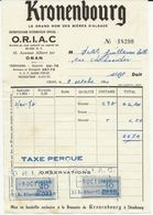 FISCAUX FRANCE ALGERIE Facture De 1961 ORAN 10F Et 40F  Bleu - Revenue Stamps