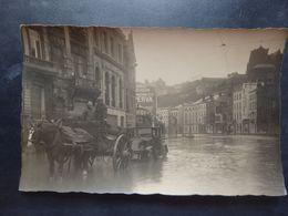 Liège - Photo Carte - Attelage Et Automobile Gros Plan - Inondations - 2 Scans. - Liege