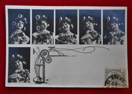 CPA Photo Fantaisie  - Femme/ Art Nouveau - Künstlerkarten