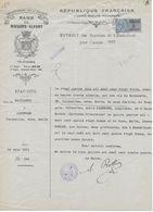 Extrait Naissance MAISONS-ALFORT De 1923 (CAZENOBE-BURLON) Avec Armoiries Ville Pour Généalogie Ou Fiscaux - Revenue Stamps