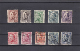 490/498 Y 497/A (SERIE COMPLETA 10 VALORES) USADA - 1930/1 ALFONSO XIII, CATALOGO EDIFIL 11,75 EUROS - 1889-1931 Reino: Alfonso XIII
