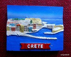 Magnet CRÈTE -  Résine - 7,5  X 6 X 0,6 Cm - Tourismus