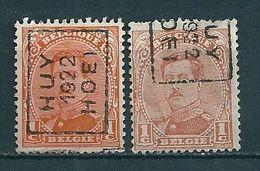 2778 Voorafstempeling Op Nr 135 - HUY 1922 HOEI - Positie A & B - Rolstempels 1920-29