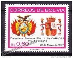 Bolivia - Bolivie 1987 Yvert 682, Visit Of H.M. King Of Spain Juan Carlos - MNH - Bolivia