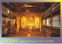 64 - Ciboure - Intérieur De L'Eglise Saint Vincent (XVe Et XVIIe Siècles) - Ciboure