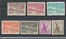 BOLIVIA    YVERT   AEREO  146/52      MNH  ** - Bolivia