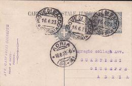 PIOVE DI SACCO - PADOVA - CARTOLINA POSTALE CON TIMBRO COMMERCIALE AVV. GASPARINI GIUSEPPE - 1923 - Padova (Padua)
