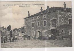 CPA-43-Haute Loire- SAINT-JEURES-de-BONAS- Les Quatre Chemins Et Route De Tence- - Frankreich