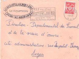 Maine Et Loire :- ANGERS + Cachet ECOLE D'APPLICATION DU GENIE CASERNE EBLE - Postmark Collection (Covers)