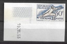 Lot France Neuf** Non Dentelé Coin Daté 962 Yt Jeux Olympiques Helsinki - 1950-1959