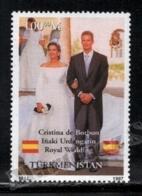 Turkmenistan 1997 Yvert 56, Royalty. Infanta Cristina Of Spain & Iñaki Urdangarin Wedding - MNH - Turkmenistan