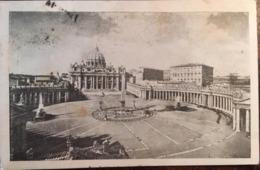 Cpa De 1947, Roma Piazza E Basilica Di S. Pietro In Vaticano (Place Et Basilique S.Pierre) éd Marcucci, Timbre - San Pietro