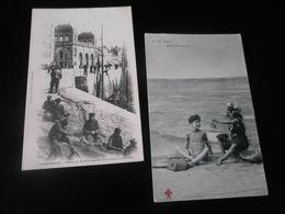 LOT DE 50 CPA / VRAC PLAGES - BATEAUX - PECHEURS - SCENES DE PLAGE / DUNKERQUE - MALO - ORNIVAL - CAYEUX .. - Postcards