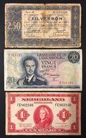 Netherland Olanda 1 Gulden 1943 + 2,50 1938 + Lussemburgo 20 Francs 1966 LOTTO 326 - [2] 1815-… : Regno Dei Paesi Bassi