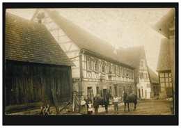 Foto-AK Bauernhof Mit Pferden, Gelaufen 1911  - Other