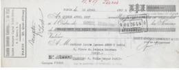 Lettre Change 1935 Avec 5 Timbres Fiscaux Machine à Affranchir à 93 Francs - Fiscali