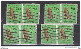 SUD  AFRICA:  1961  MAIS  -  7 1/2 C. VERDE  CHIARO  E  BRUNO  4  COPPIE  US. -  YV/TELL. 255 - South Africa (1961-...)