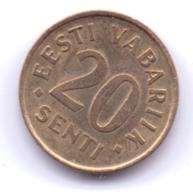 EESTI 2006: 20 Senti, KM 23a - Estland