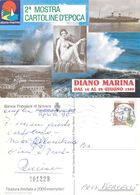 2a Mostra Cartoline D'epoca. Diano Marina 1989. Viaggiata 1989. Numerata - Bourses & Salons De Collections