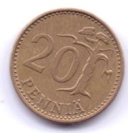 FINLAND 1974: 20 Penniä, KM 47 - Finnland