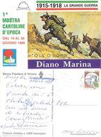 2a Mostra Cartoline D'epoca. Diano Marina 1988. Viaggiata 1990 - Bourses & Salons De Collections